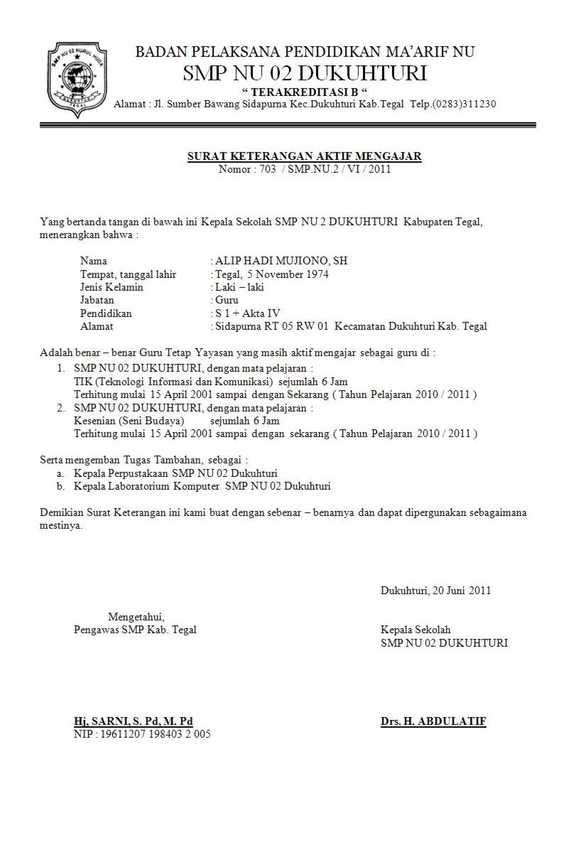 CONTOH SURAT LAMARAN KERJA DAN CV BAHASA INDONESIA